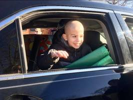 Stanley Elementary School Student Receives Send-off Fit For a King