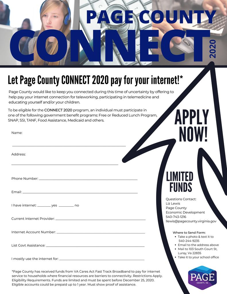 Page County Connect Application