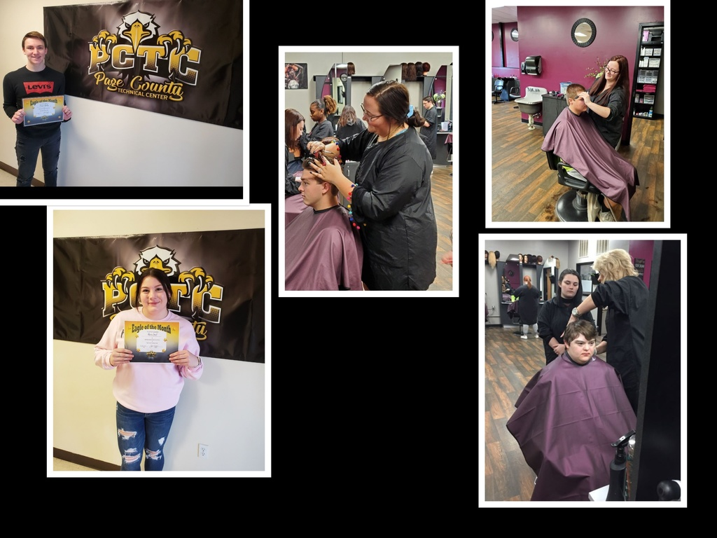 collage photo of PCTC cosmetology students