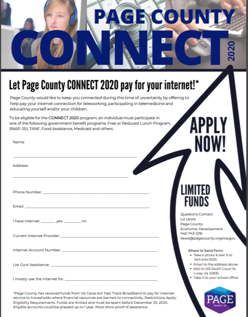 Page County Connect 2020 offer