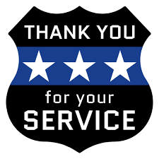 Thank you for your service- law enforcement appreciation day