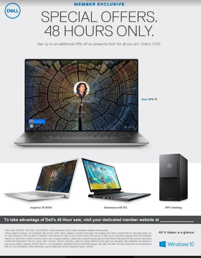Dell 48 hour sale