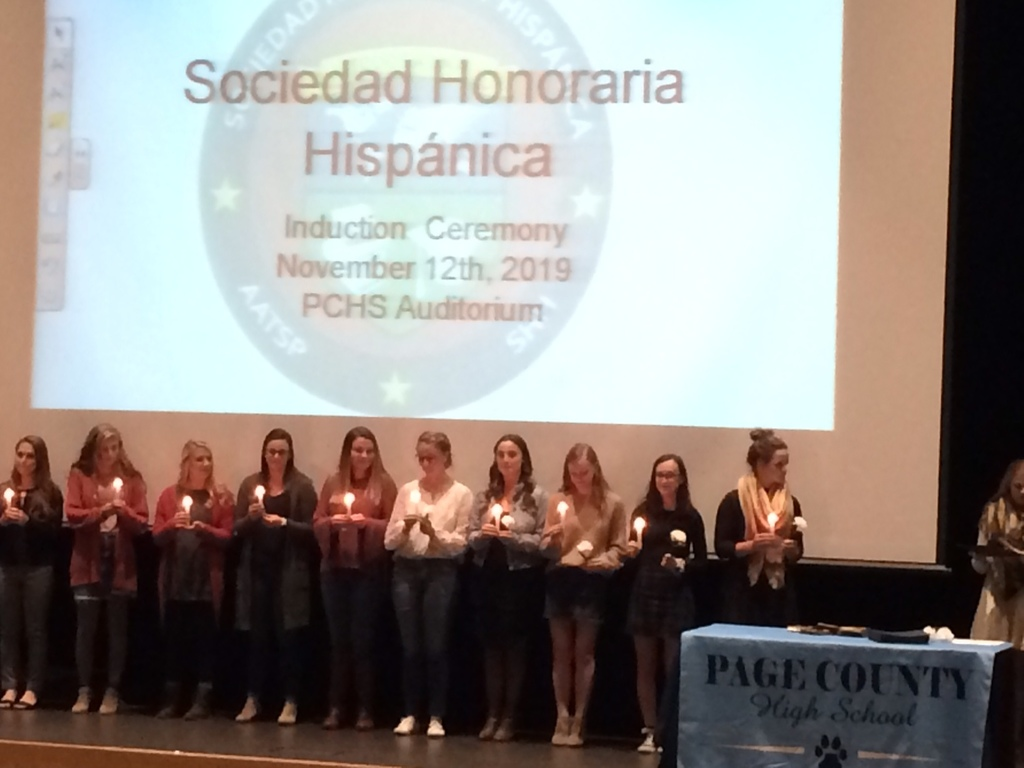 Students inducted into the Spanish Honor Society