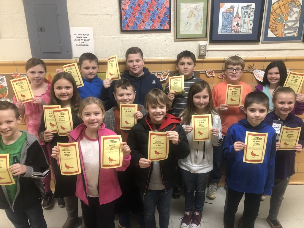 "October  ""Be Kind"" Students of the Month"