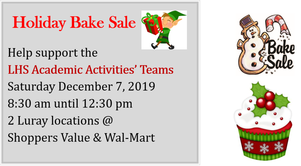 Academic Team Bake Sale