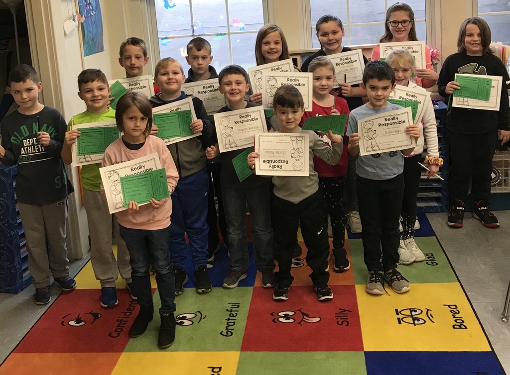 The Shenandoah Star Students for November for showing responsibility in class!