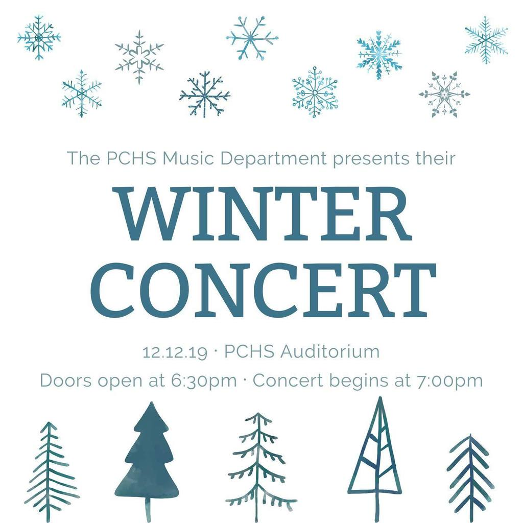 winter concert date and time at pchs
