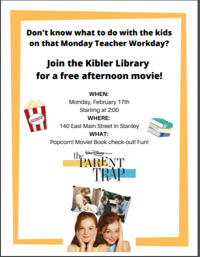 movie flyer kibler library