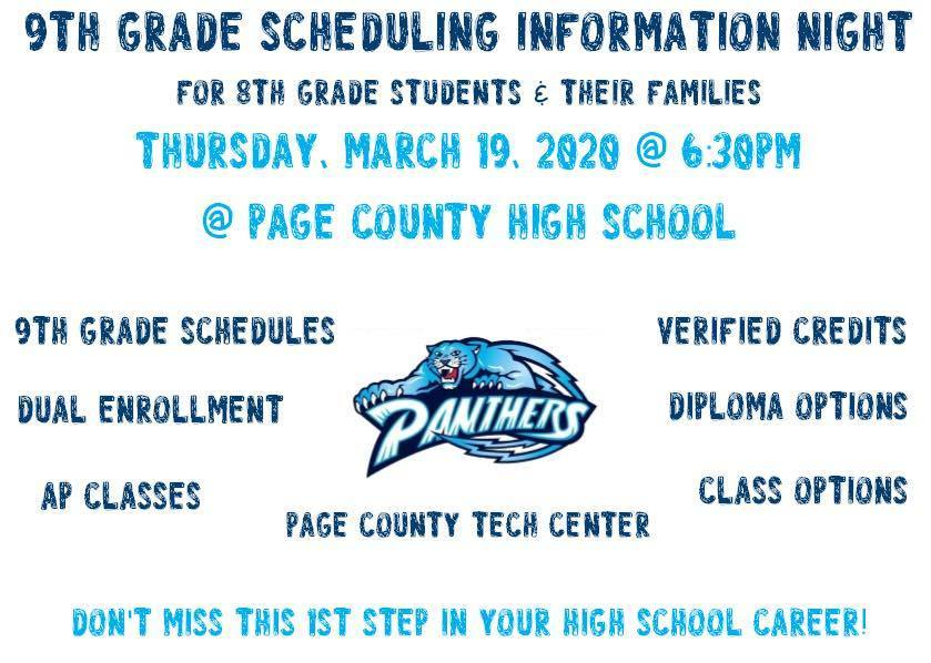 8th grade information night flyer