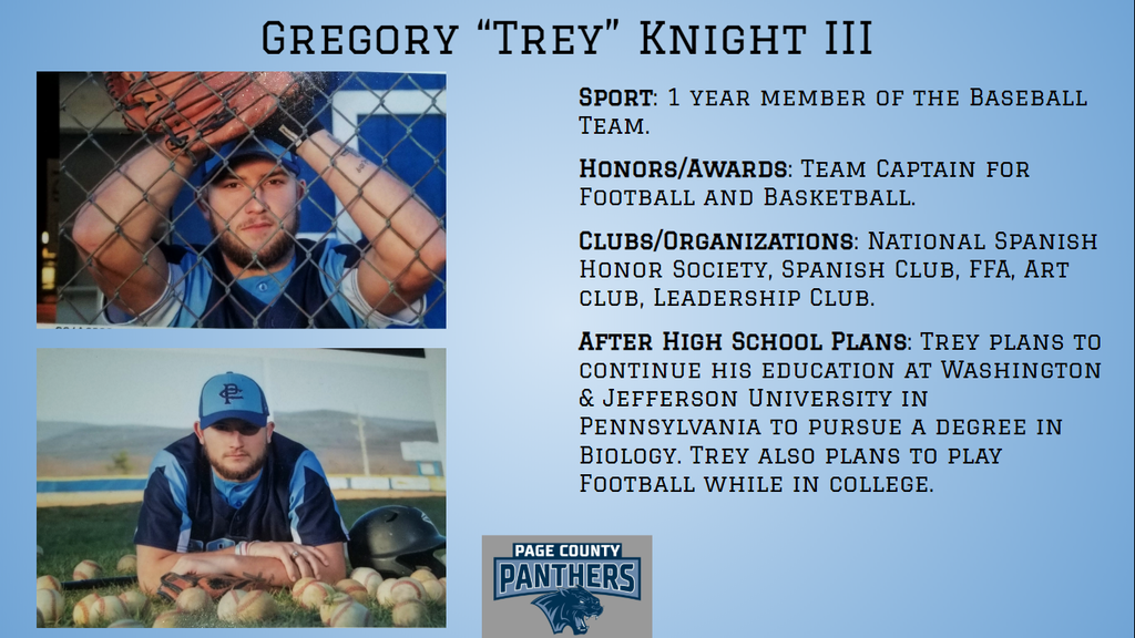 PCHS Senior, Trey Knight.