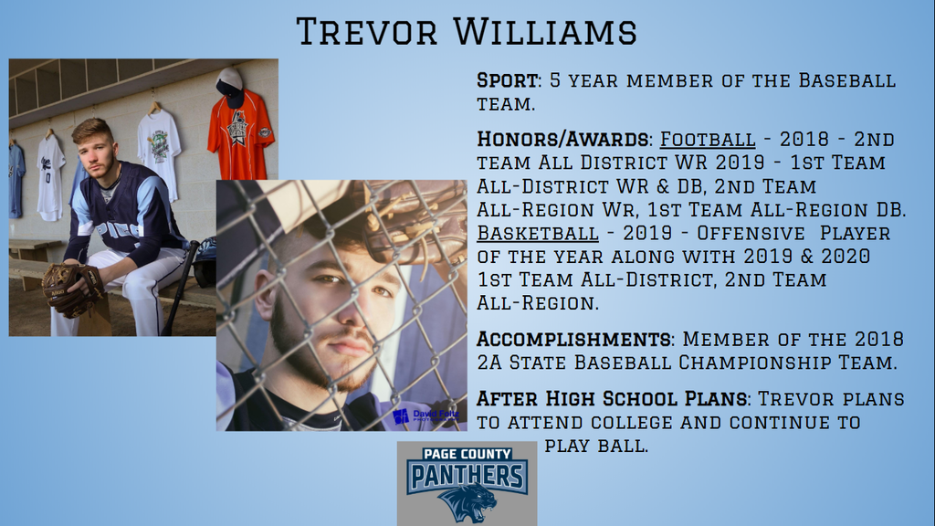PCHS Senior, Trevor Williams.