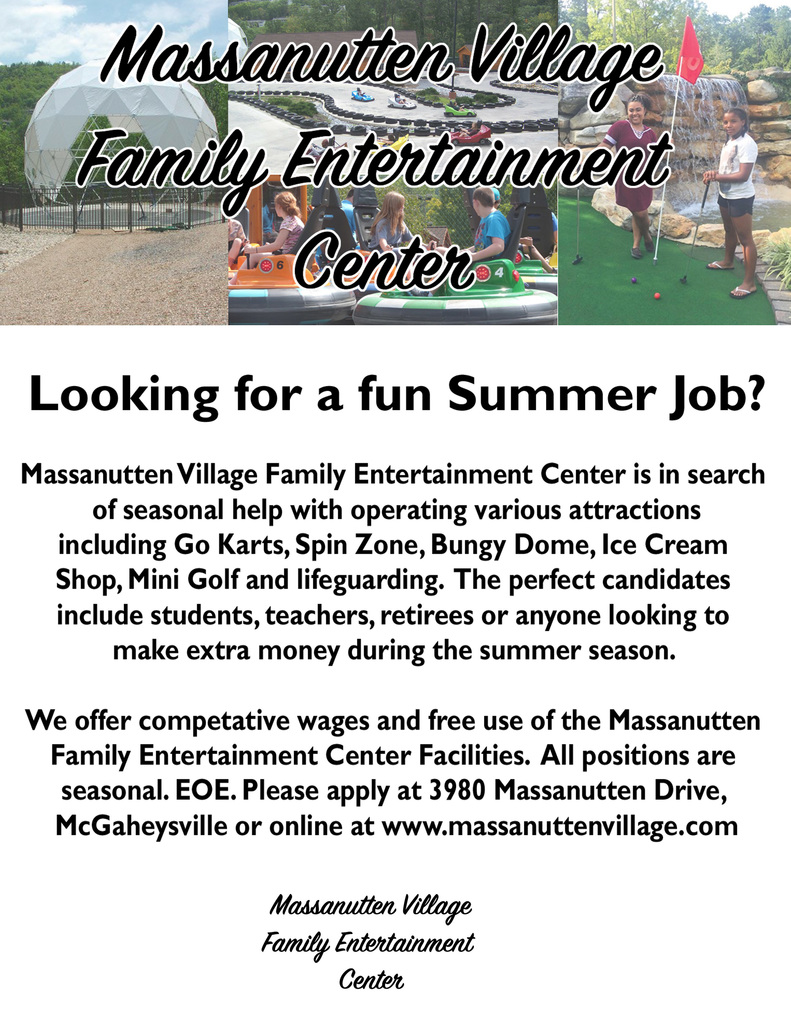 summer job flyer