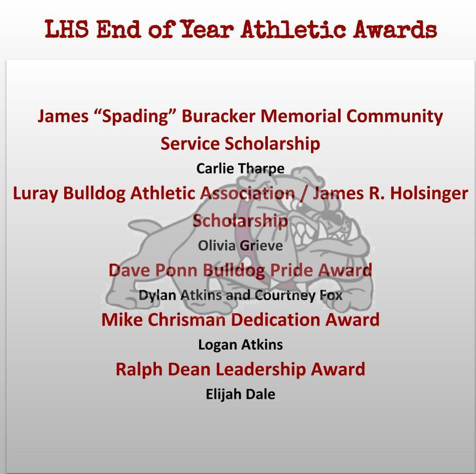 Athletic EOY Awards