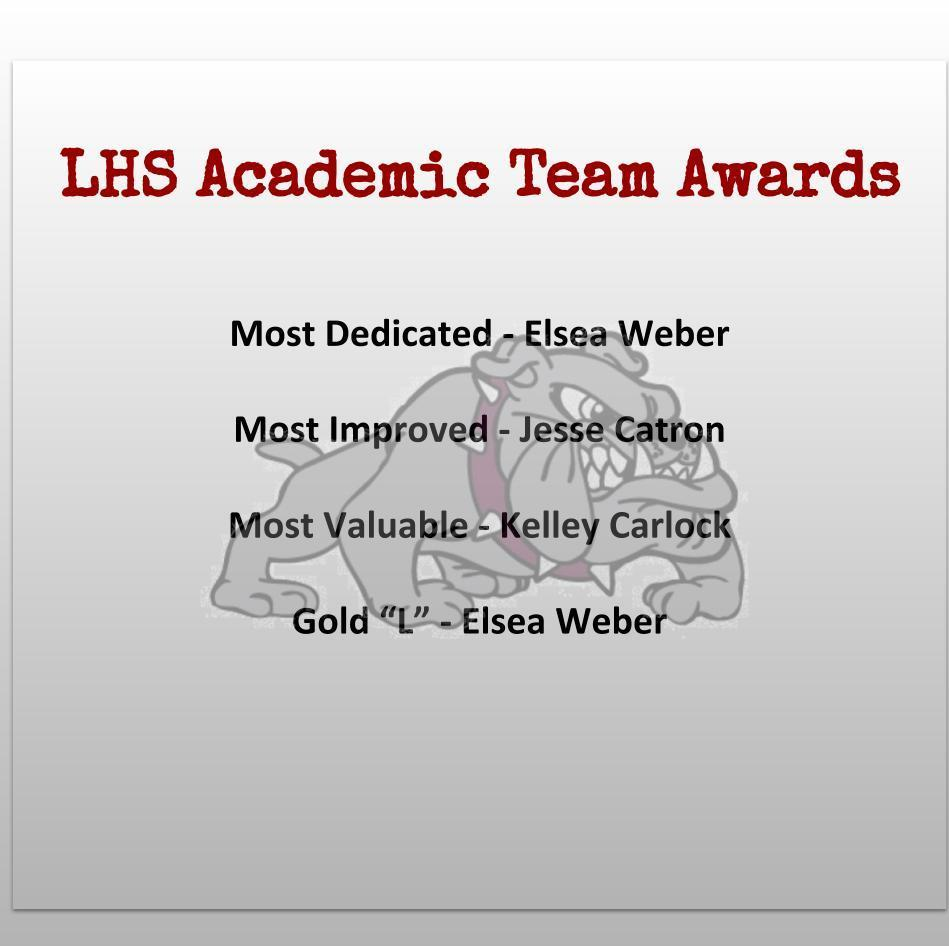 Academic Team Awards