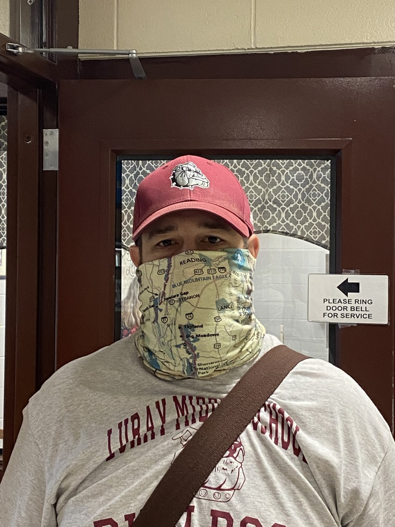 The answer to what Mr. Keim teaches is on his mask. Can you guess?