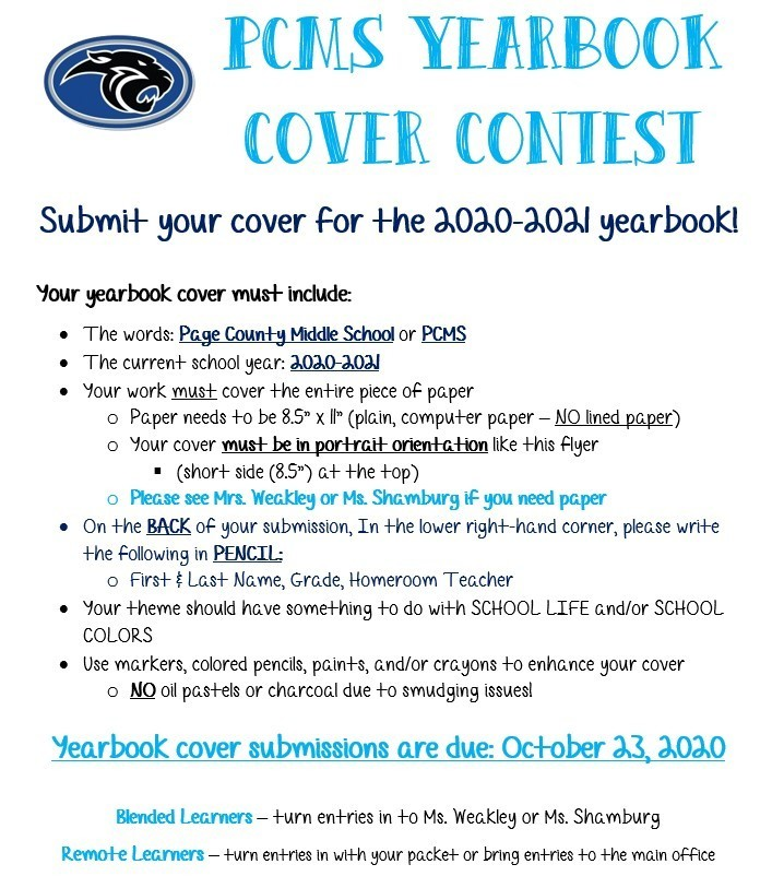 Yearbook Cover Contest Details